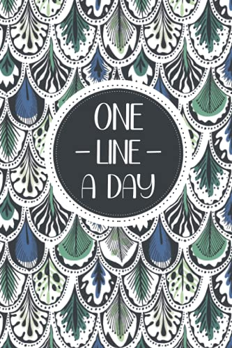 One Line a Day: Feather PatternCover:Dated & Line Note Book:A Sentence A Day Journal for 5 Years Record. Daily Review, Insirational,Reflection Book- Simple Short Diary
