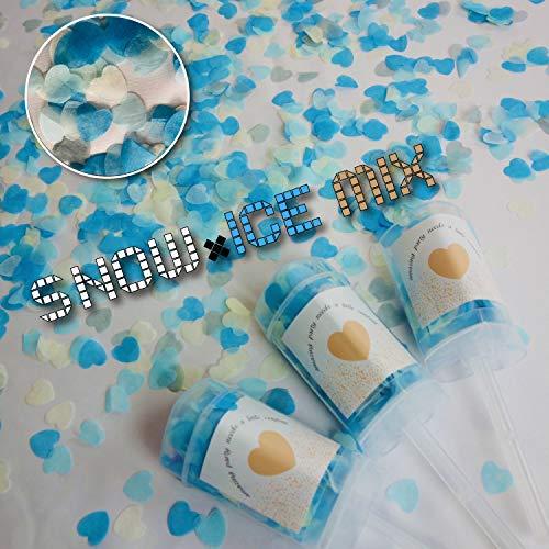 プッシュポップキャンディ 最新クラッカー 誕生日 飾り付け パーティー プッシュポップコンフェッティ セット (ハートタイプ×3本セット) (Bタイプ)