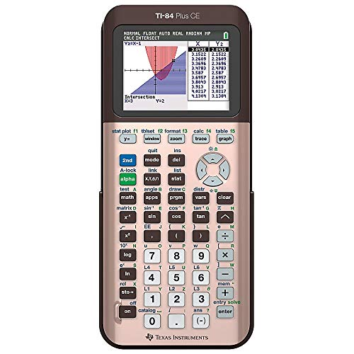 Texas Instruments TI-84 Plus CE Color Graphing Calculator, Rose Gold (Metallic)