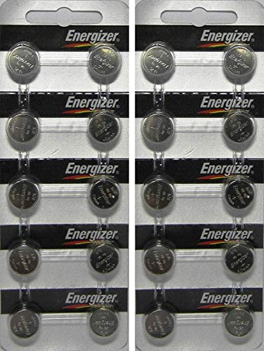 20 Energizer AG13 LR44 A76 L1154 Alkaline Battery With Long Shelf Life (Expire Date Marked)