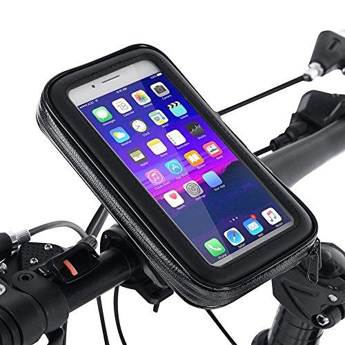 VGEBY1 Soporte para teléfono para Bicicleta, Bolsa de sillín para Bicicleta a Prueba de Lluvia Bolsa para Cuadro Delantero de Bicicleta Soporte para Pantalla táctil Bolsa para Bicicleta(XL)