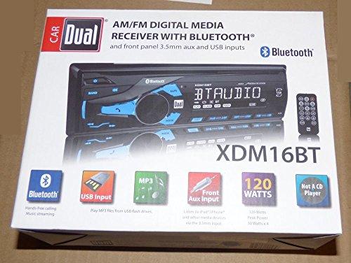 Dual AM/FM Digital Media Car Stereo with Bluetooth xdm16bt Radio