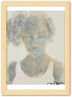 CaoGSH Blue Eye Girl XJJ Peinture à l'huile décorative en bois A4