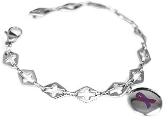 Custom Engraved Purple Awareness Bracelet - 316L Steel