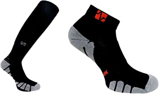 Vitalsox Italy VT1211/VT1010 Silver Drystat Combo Pack Graduated Compression and Low Cut Socks