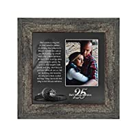 Silver Threads Unbroken, Personalized 25 Anniversary Picture Frame, 10x10 6303BW [並行輸入品]