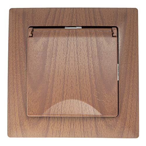 Visage - Enchufe con tapa empotrada en madera de nogal con práctico sistema de bornes, conexión de cable sin tornillos