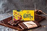 CHOCODUSK Happy Birthday Chocolate Bar, 85 gm (Yellow)