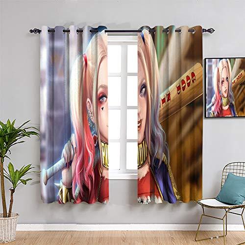 51ZEtkp4-pL Harley Quinn  Curtains