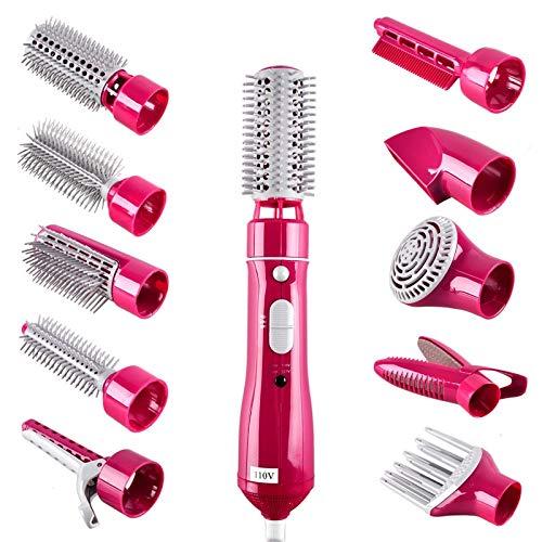 Cepillo de Aire Caliente 10 en 1 cepillo de secador de pelo profesional cepillo de aire caliente plancha de pelo eléctrica rizador y secador salón peinado herramienta hots peine