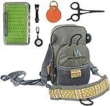 MAXIMUMCATCH Maxcatch Fliegenfischen Brusttasche Superleichte Brustpackung für Fliegenfischen Zubehör (V-comp Brusttasche&Fliegenbox&Zubehör)