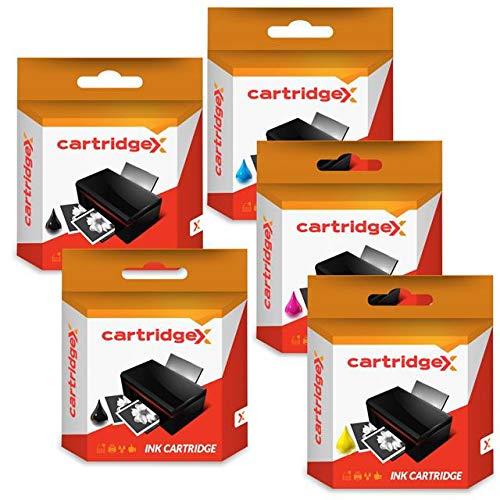 Cartex - Juego de 5 cartuchos de tinta compatibles con Epson XP-315 XP-322 XP-325 XP-402 XP-102