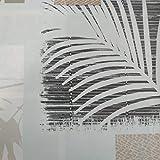 Hule | Mantel Mesa Antimanchas | Mantel Mesa Comedor y Mesa Cocina PVC Impermeable, para Interior y Exterior Diseño Hojas Palmera (140_x_220_cm)