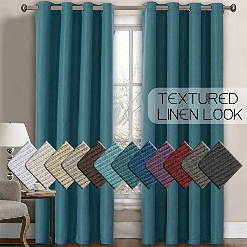 H.VERSAILTEX Linen Curtains Room Darkening Light...