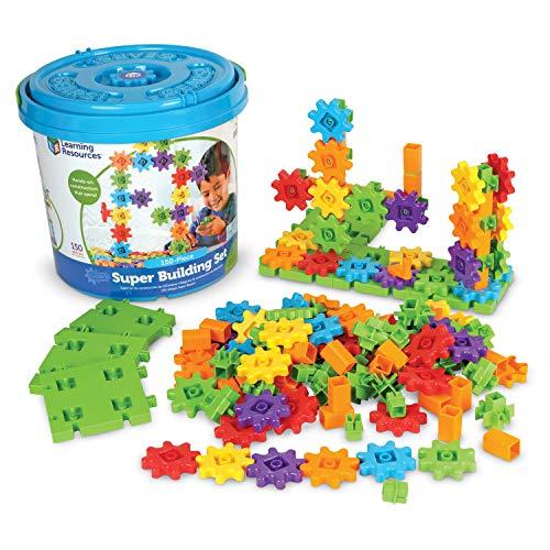 Learning Resources- Superjuego de construcción Gears, Color (LER9164)