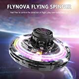 QIHONG FlyNova Tricked-out 360 Degree Flying Spinner with LED Lights,Multiple Flying Routes UFO Toys,Safe Fun for Kids/Adults/Team Party Fun Relaxation & Reduce stress,USB Charging