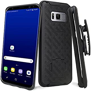 Galaxy S8 Case, Galaxy S8 Swivel Slim Belt Clip Holster Protective Phone Case, Defender Cover Holster Shell Combo Compatible for Samsung Galaxy S8 - Black
