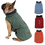 BALYLAS Dog Coats for x-Large Dogs Winter, French Bulldog Clothes for Dogs, Winter Jacket for Large Dogs, XL(X-Large, Green)