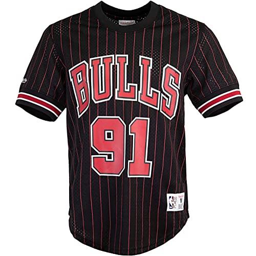 Mitchell & Ness Dennis Rodman Chicago Bulls 95/96 - Camiseta negro/rojo L
