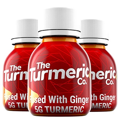 The Turmeric Co. - Turmeric and Ginger Shot – Cold Pressed Tasty Turmeric Drink – 5g Turmeric Per Shot - Turmeric Supplement – Turmeric Shots – Turmeric Products - (Box of 9)