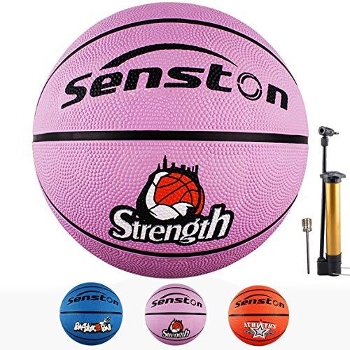 Senston Balon Baloncesto Balon de Baloncesto Pelota Baloncesto de Goma de Tamaño 5