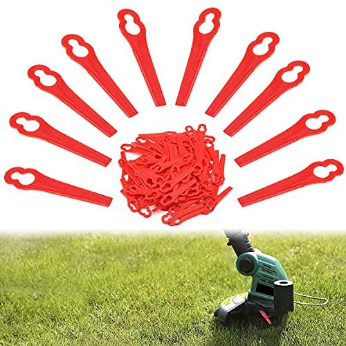 WELLXUNK Rasentrimmer Messer,100 pcs Ersatzmesser Set,Kunststoff Ersatzmesser Rasentrimmer-Zubehör Kunststoffmesser für Garten,für Akku-Rasentrimmer Kunststoffmesser