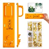 Picture Hanging Kit, Picture Frame Hanger Tool, 220 Pieces Heavy Duty Photo Hanger Accessories Incluedes Picture Hanging Wire, Hooks, Nails and Hanger Level,Frame Ruler for Marking Position