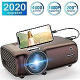 Proyector Excelvan, 1080P Proyector 4000 lúmenes Proyector Mini HD para...