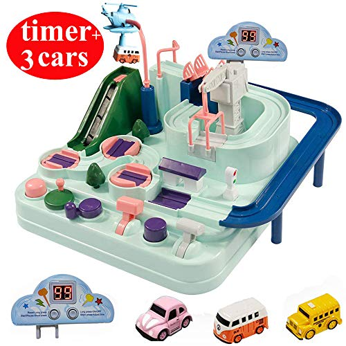 VQ-Ant Car Adventure Track Set Creative Manual Operation City Rescue Engineering Vehicles Race Toys Boy Girl Infant Toddler Kids Puzzle Games Interactive Classic Toys Vehicle Playset Gifts (car)