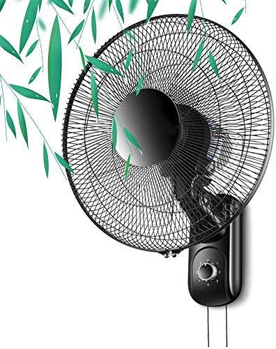 TOPNIU Ventiladores de Pared montados en Pared oscilantes de Interior, diámetro 41 cm, 3 Niveles de Velocidad, Cabeza de inclinación, Potencia de 60 vatios, Control mecánico/Remoto