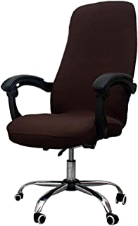 Melaluxe Office Chair Cover - Universal Stretch Desk Chair Cover, Computer Chair Slipcovers (Size: L) - Coffee