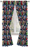 Jay Franco Marvel Avengers Team 84' Inch Drapes 4 Piece Set - Beautiful Room Décor & Easy Set Up - Window Curtains Include 2 Panels & 2 Tiebacks (Official Marvel Product)