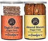 Hey Grain Cookies Home Combo-9 (Ragi & Oats Sugar Free & Almond Biscotti Sugar Free)