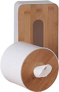 Caja de pañuelos de bambú, de madera natural, rectangular, con parte inferior extraíble y dispensador de servilletas, para papel de seda estándar y cajas Kleenex rectangular As Picture Show