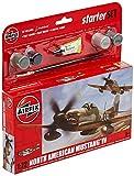 Airfix - Kit pequeño con Pinturas, avión P-51D Mustang (Hornby A55107)
