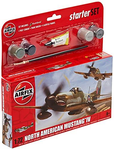 Airfix A55107 1/72 Small Starter Set, North American Mustang IV Modellbausatz