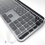 フル・フラットキーボードカバー (Logicool MX KEYS for Mac, 極薄ポリウレタンエラストマー)