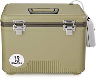 Engel Coolers 13qt Live Bait Cooler/Dry Box with Air Pump - Tan