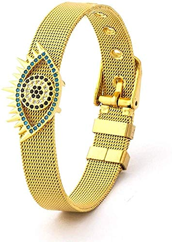 Pulsera pulsera de la correa brazalete de acero inoxidable de Halloween clásico de malla del reloj Mujer Men correa del encanto del brazalete Mejor deportes al aire libre Surf regalo de la joyería for