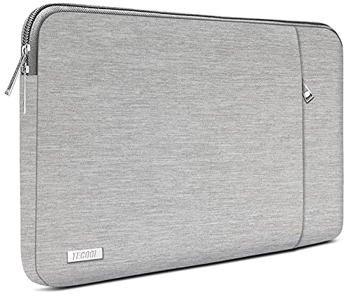 TECOOL 15.6 Pollici Custodia per Laptop, Notebook Sleeve Borsa Cover con Tasca Accessoria per Acer ASUS dell HP Lenovo Thinkpad Ideapad Computer Portatile, Grigio