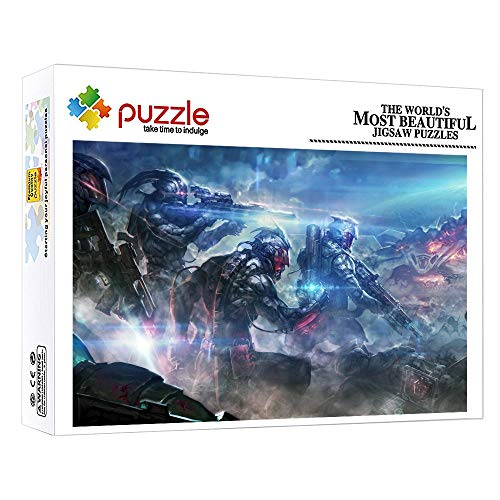 ZTCLXJ 1000 Piezas Color Surtido Puzzles 1000 Piezas Puzzle Infantil Guerrero para Niños Adultos Rompecabezas Educativos Juegos para Los Mejores Regalos Hombres Y Mujeres 20 X 15 Pulgada