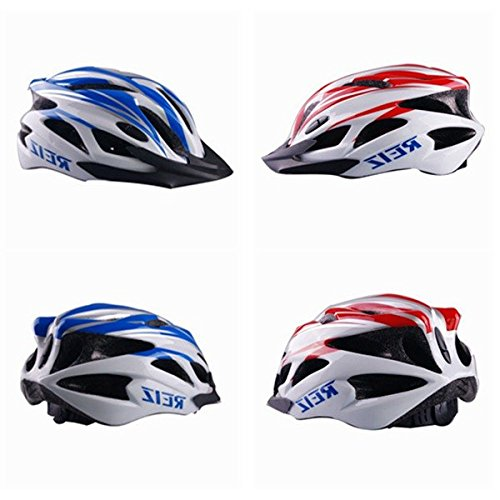Bazaar Casque de vélo casque vélo vélo de carbone route bmx vtt rouge bleu