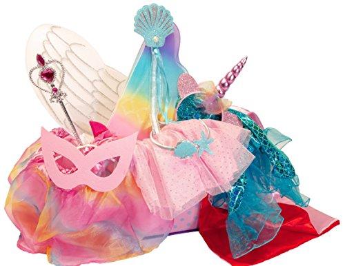 MMP Living Verkleidungsset mit 5 Kostümen: Einhorn, Prinzessin, Meerjungfrau, Engel, Superheld