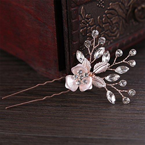 niumanery Hair Pin Wedding Hairpins Women Jewelry Headpieces Accessories Stick Flower Clip
