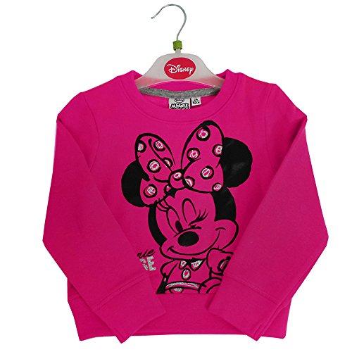Offiziell lizenzierte Disney Baby Minnie Mouse blau rosa Kinder Mädchen voller Ärmel Sweatshirt Shirt (Rosa, 2A - 92cm)