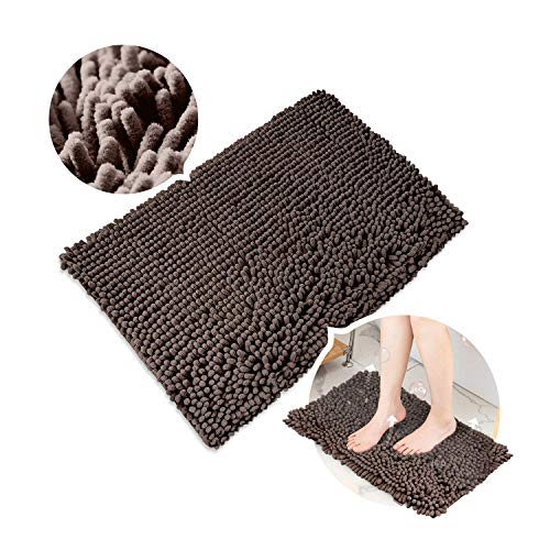 "Sophie & Panda Soft Chenille Bath Mat with Rubber Backing - Enjoy Luxury Every Time You Step Out of The Shower - Small Bathroom Mat 15.7"" X 23.6"""
