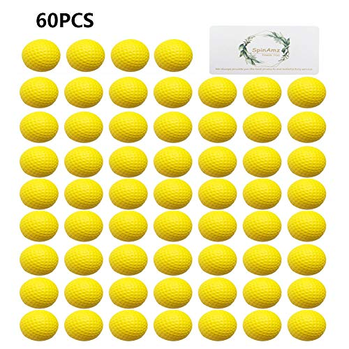 Price comparison product image Soft Golf Balls, Smartlife15 Foam Sponge Practice Golf Balls,  Indoor Outdoor Golf Balls for Training(Yellow, 60pcs)