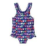 Pistaz - Bañador de una pieza de dibujo animado para bebé niña, traje de baño con volantes, diseño de animales, bonito bañador para bebé o niña, niños y niñas, bikini Flamingo
