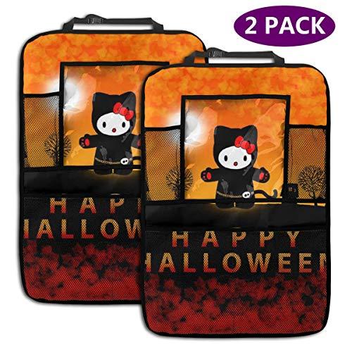 TBLHM Hello Kitty Halloween Happy Dress Up Lot de 2 organiseurs pour siège arrière de Voiture avec Support pour Tablette