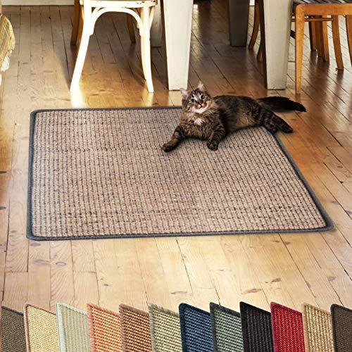 casa pura Sisalteppich Natural Line | ideal als Kratzmatte für Katzen | schadstofffrei & widerstandsfähig | Sisal Kratzteppich in vielen Farben und Größen (Old Heritage, 60x80 cm)